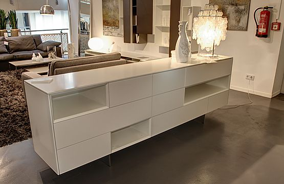 interl bke sideboard raumteiler cube fine lack wei lp eur ebay. Black Bedroom Furniture Sets. Home Design Ideas
