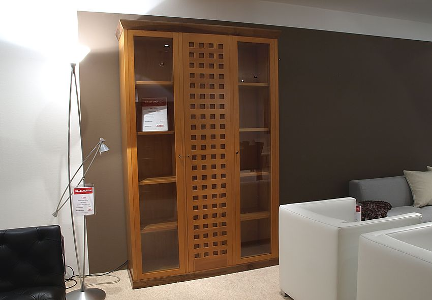 marktex schrank vitrine cose mobili pinie nussbaum lp eur ebay. Black Bedroom Furniture Sets. Home Design Ideas